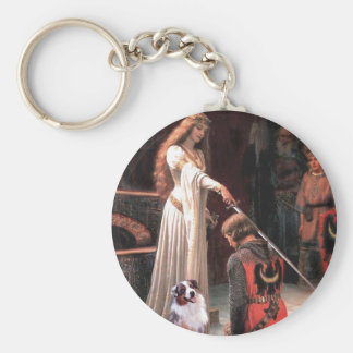 The Accolate - Aussie Shep 1 Basic Round Button Key Ring