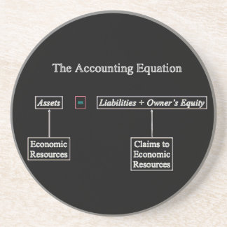 """The Accounting Equation"" Beverage Coasters"