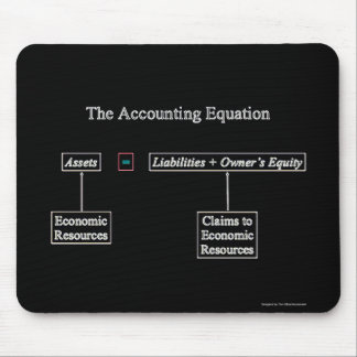 """The Accounting Equation"" Mouse Pad"