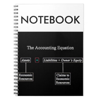 """The Accounting Equation"" Spiral Notebook"