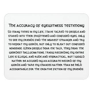 The accuracy of eyewitness testimony door sign