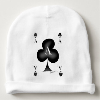 The Ace of Clubs by Tony Fernandes Baby Beanie