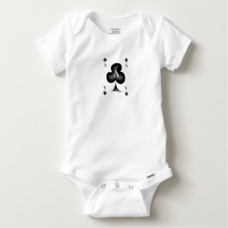 The Ace of Clubs by Tony Fernandes Baby Onesie