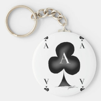 The Ace of Clubs by Tony Fernandes Key Ring