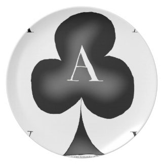 The Ace of Clubs by Tony Fernandes Plate