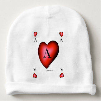 The Ace of Hearts by Tony Fernandes Baby Beanie