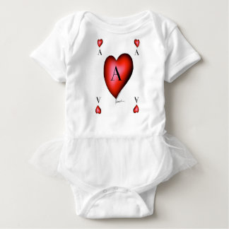 The Ace of Hearts by Tony Fernandes Baby Bodysuit