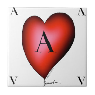 The Ace of Hearts by Tony Fernandes Ceramic Tile