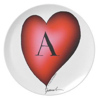 The Ace of Hearts by Tony Fernandes Plate