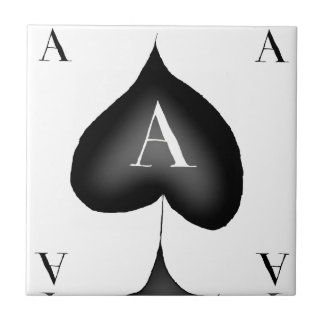 The Ace of Spades by Tony Fernandes Ceramic Tile