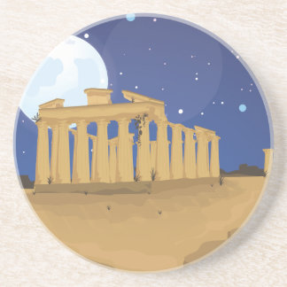 The Acropolis of Athens Drink Coaster