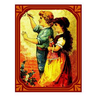 """""""The Admirer"""" Postcard"""