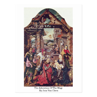 The Adoration Of The Magi By Joos Van Cleve Postcard
