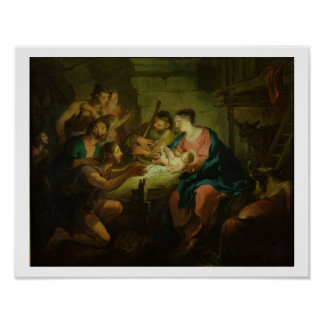 The Adoration of the Shepherds, 1725 (oil on canva Posters