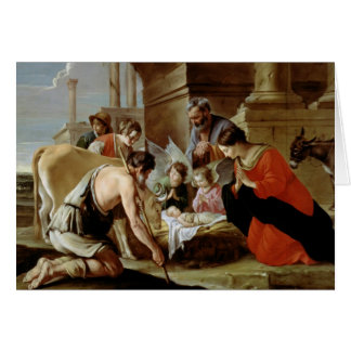 The Adoration of the Shepherds, c.1638 Card
