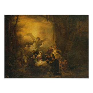 The Adoration of the Shepherds, c.1650 Poster