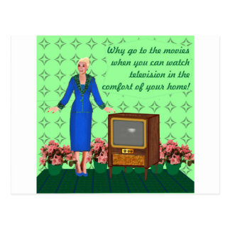 The advent of television postcard