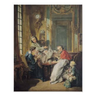 The Afternoon Meal, 1739 Poster