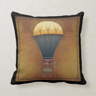 The Airship Abeelle Steampunk Flying Machine Cushion