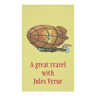 "The airship ""steampunk"" Jules Verne Poster"