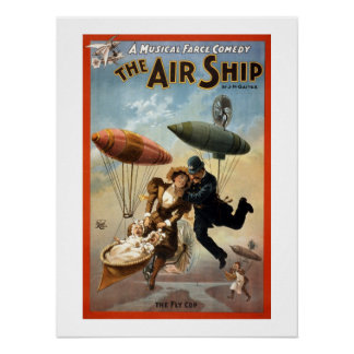 The Airship Vintage Theatre Poster. Poster