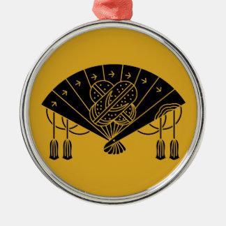 The Akita fan Silver-Colored Round Decoration