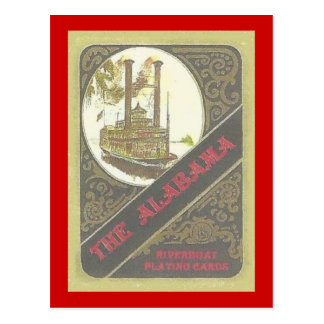 THE ALABAMA RIVERBOAT LUCKY GAMBLER ! POSTCARD
