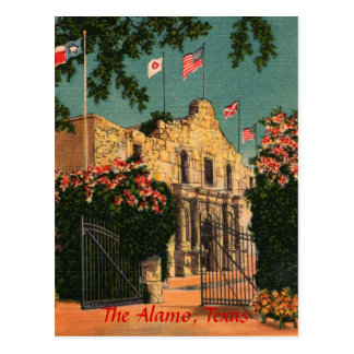 The Alamo Vintage Texas Postcard