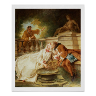 The Alarm, 1723 (oil on canvas) Poster