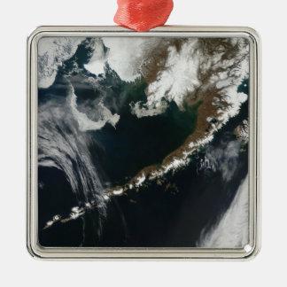 The Alaskan Peninsula and Aleutian Islands Silver-Colored Square Decoration