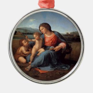 The Alba Madonna Silver-Colored Round Decoration