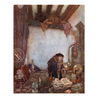 The Alchemist by Edmund Dulac Poster