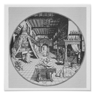 The Alchemist in his Laboratory, from 'Amphitheatr Posters