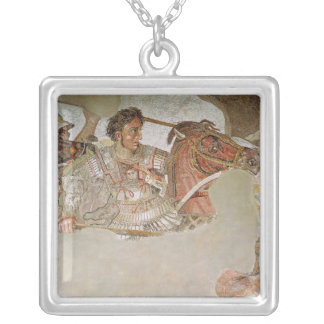 The Alexander Mosaic Silver Plated Necklace