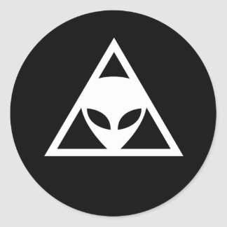 The Alien Conspiracy Classic Round Sticker
