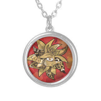 The all seeing eye pretty(awesome) doodle vibrant round pendant necklace