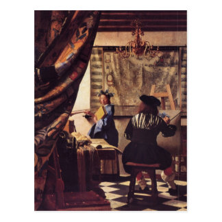 The Allegory of Painting by Johannes Vermeer Postcard