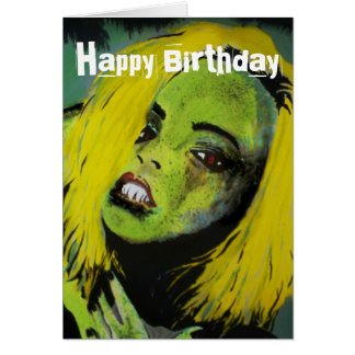 'The Alligator Girl of Cypress Swamp' Birthday Car Card
