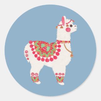 The Alpaca Classic Round Sticker