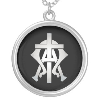 The Alpha & The Omega Silver Plated Necklace