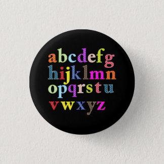 The Alphabet 3 Cm Round Badge