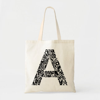 The Alphabet Letter A Tote Bag