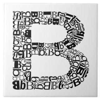The Alphabet Letter B Large Square Tile