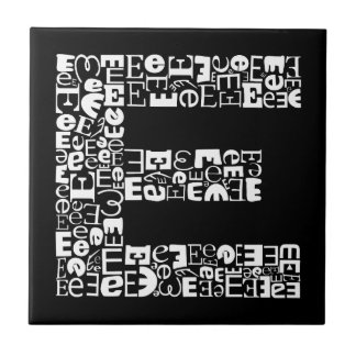 The  Alphabet Letter E Ceramic Tile