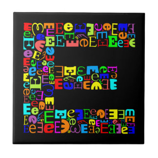 The  Alphabet Letter E Tile