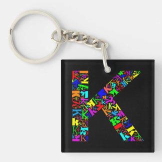 The Alphabet Letter K Key Ring