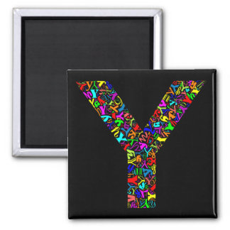 The Alphabet Letter Y 2 Inch Square Magnet
