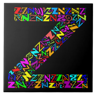 The Alphabet Letter Z Ceramic Tile