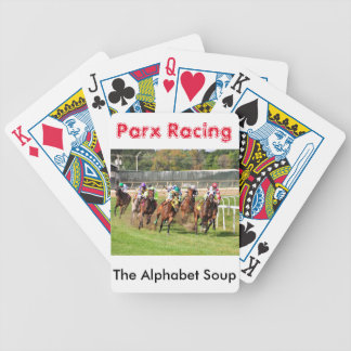 The Alphabet Soup Bicycle Playing Cards