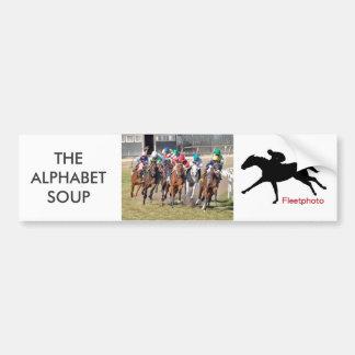 The Alphabet Soup Bumper Sticker